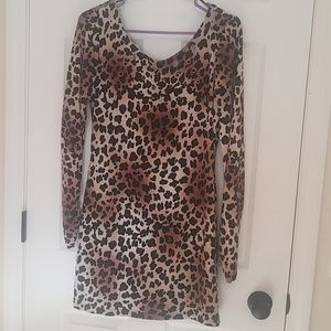 Leopard print long sleeve dress❤🌹